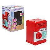 Электронная копилка-сейф красный, 1511, набор