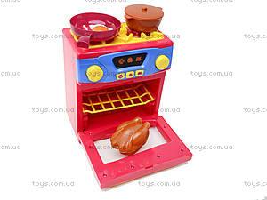 Игрушечная электроплита с посудой, QF26131, фото