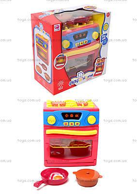 Игрушечная электроплита с посудой, QF26131