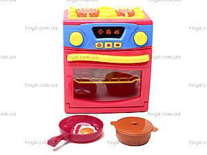 Игрушечная электроплита с посудой, QF26131, магазин игрушек