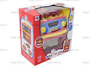 Игрушечная электроплита с посудой, QF26131, toys.com.ua