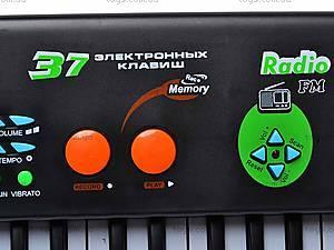 Электросинтезатор с микрофоном, 0886, детские игрушки