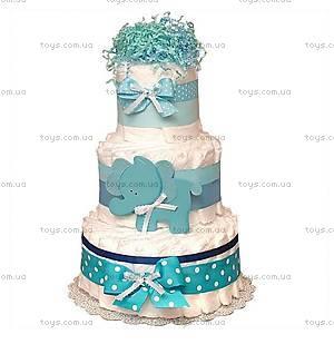 Торт из памперсов для мальчика Elephant, BH14