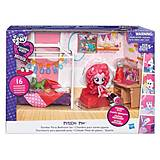 Игровой набор мини-кукол Equestria Girls «Пижамная вечеринка», B8824