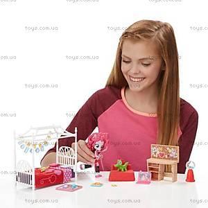 Игровой набор мини-кукол Equestria Girls «Пижамная вечеринка», B8824, купить