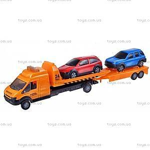 Игрушечный эвакуатор с прицепом Recovery Truck Long, 60062-06-RUS