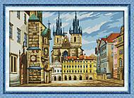 Европейская улочка, картина для вышивки, F238