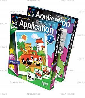 Детская аппликация «Кот-автомобилист», 257004
