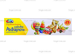 Акварель краски «Любимые игрушки», 6 цветов, 311032, купить