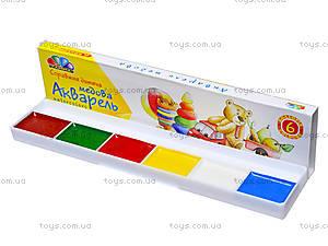 Акварель краски «Любимые игрушки», 6 цветов, 311032, фото