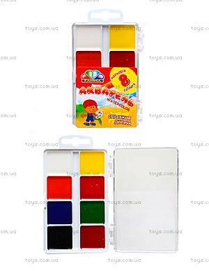 Акварельная краска Гамма, 8 цветов, 312042