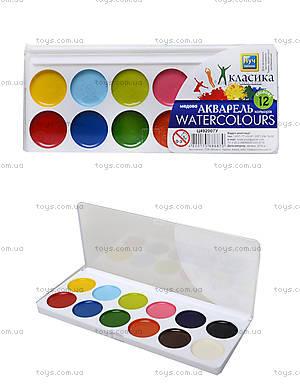 Краска акварельная медовая «Классика», 12 цветов, Ц492007У