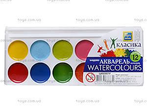 Краска акварельная медовая «Классика», 12 цветов, Ц492007У, фото