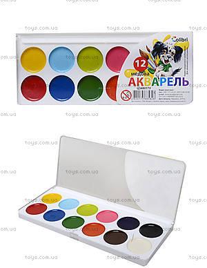 Краска акварельная серии «Гавчик и Мурчик», 12 цветов, Ц348017У