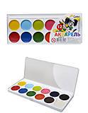 Краска акварельная серии «Гавчик и Мурчик», 12 цветов, Ц348017У, купить