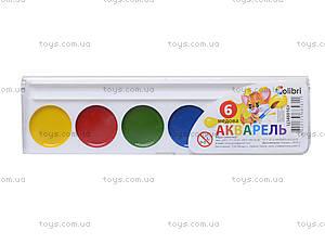 Акварельные краски серии «Гавчик и Мурчик», 6 цветов, Ц348016У, купить