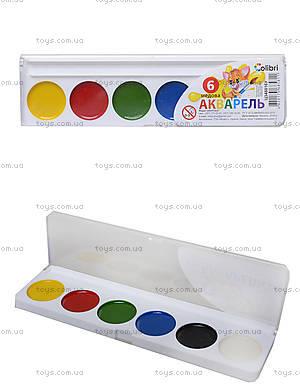 Акварельные краски серии «Гавчик и Мурчик», 6 цветов, Ц348016У