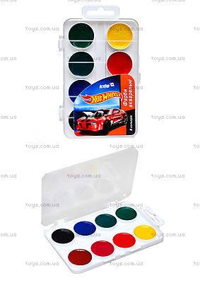 Краски акварельные Hot Wheels, 8 цветов, HW14-060K