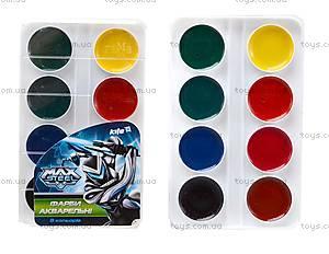 Акварельные краски Max Steel, 8 цветов, MX14-060K