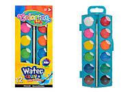 Краски акварельные маленькие, 12 цветов COLORINO, 41508PTR, детские игрушки