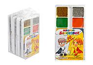 """Краски акварельные медовые, 10 цветов """"Молния"""" (золото и серебро), 6 наборов в упаковке, ТЕ461515, купить"""