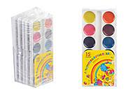 """Краски акварельные медовые 12 цветов """"Акварелька-карамелька"""" (5 наборов в упаковке), ТЕ461147, купить"""