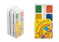 """Краски акварельные медовые 8 цветов """"Акварелька-карамелька"""" (5 наборов в упаковке), ТЕ299, фото"""