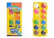 Краски акварельные 12 цветов Colorino, большие, 41089PTR, купить