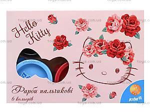 Краски пальчиковые Hello Kitty, 6 цветов, HK15-064K, игрушки