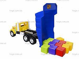 Детская машина «Фарго» с 12 кубиками, 07-601-5, купить