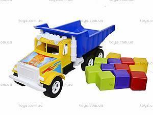 Детская машина «Фарго» с 12 кубиками, 07-601-5, фото