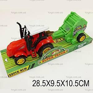 Фермерский трактор с прицепом, 1129-1