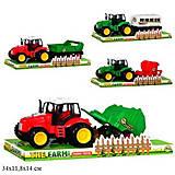 Фермерский инерционный трактор с прицепом, ABC1-B3B8B109, отзывы