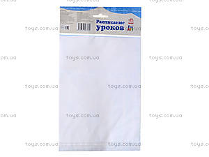 Детский плакат с наклейками «Расписание уроков», Л422057Р, фото