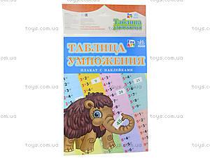 Плакат с наклейками «Таблица умножения», Л422014РУ, фото