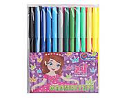 """Фломастеры """"Девочка"""" 24 цвета ПВХ-упаковка, 828BK_24, детские игрушки"""