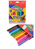 Фломастеры 12 цветов Fibre Pens, 14588PTR1, оптом