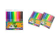 """Набор фломастеров """"ZiBi"""" 12 цветов (2 набора в упаковке), ZB.2802, Украина"""