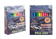 """Фломастеры 12 цветов """"STREET RACING"""" (3 набора в упаковке), 13315, купить"""