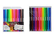 Фломастеры цветные Color fibre, 12 штук, C37109, опт