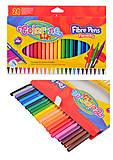Фломастеры 24 цвета Fibre Pens, 14625PTR1, отзывы