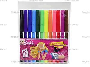 Фломастеры цветные «Барби», 12 штук, BRDLR-12S-1M-12