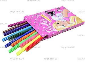 Фломастеры цветные Barbie, 12 штук, BRAB-US1-2MB-12, фото