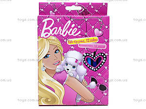 Фломастеры цветные Barbie, 12 штук, BRAB-US1-2MB-12