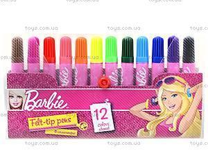 Фломастеры цветные Barbie, BRDLR-12S-4M-12, купить