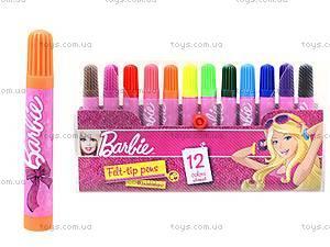 Фломастеры цветные Barbie, BRDLR-12S-4M-12