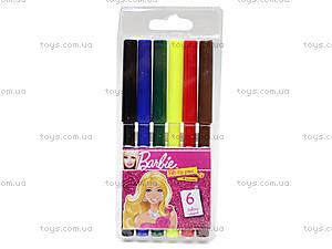 Фломастеры цветные «Barbie», 6 штук, BRDLR-12S-1M-6