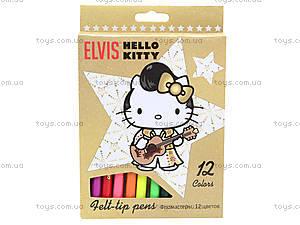 Фломастеры цветные Hello Kitty Elvis, HKAB-US1-2MB-12