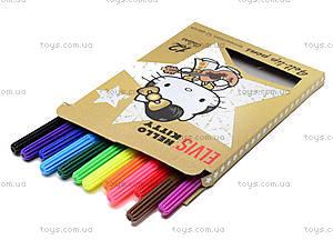 Фломастеры цветные Hello Kitty Elvis, HKAB-US1-2MB-12, купить