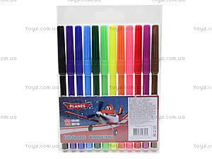 Фломастеры цветные Planes, 12 штук, PLAB-US1-1M-12